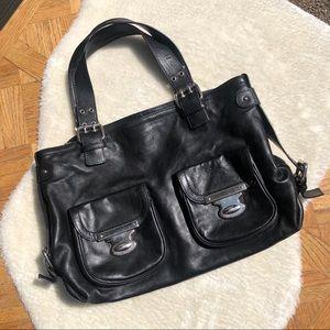 Marc Jacobs Black Leather Satchel